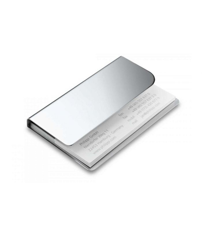 PHILIPPI - Face visitekaart houder zilverkleurig