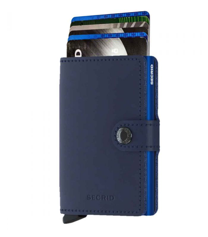 SECRID - Secrid mini wallet leer original navy blue