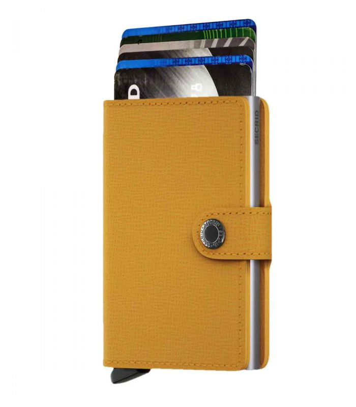 SECRID - Secrid mini wallet leer crisple amber