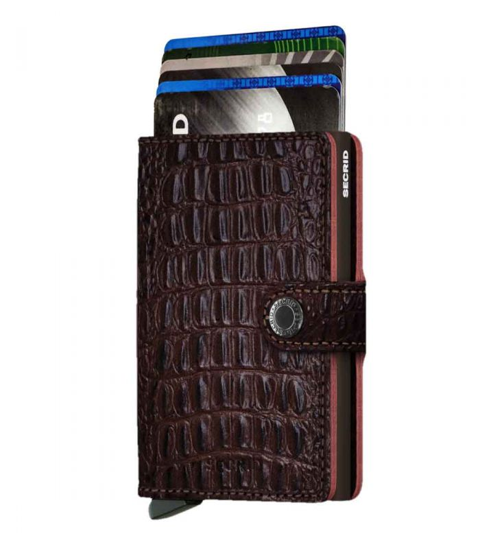 SECRID - Secrid mini wallet leer Nile bruin