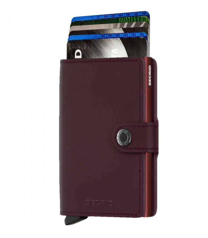 SECRID - Secrid mini wallet leer original bordeaux