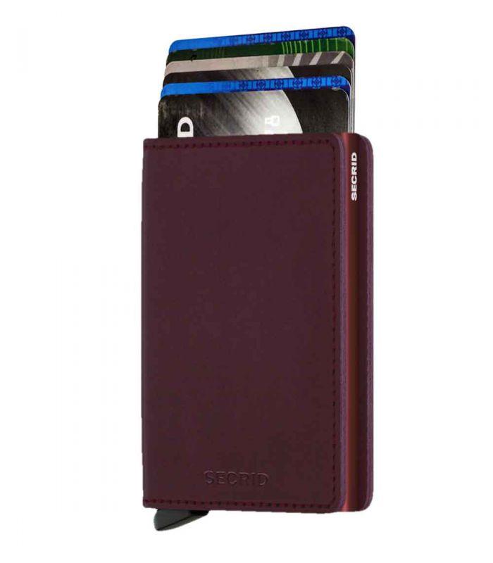 SECRID - Secrid slim wallet leer original bordeaux