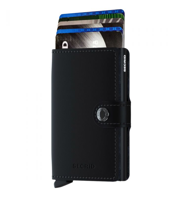 SECRID - Secrid mini wallet leer mat zwart-zwart
