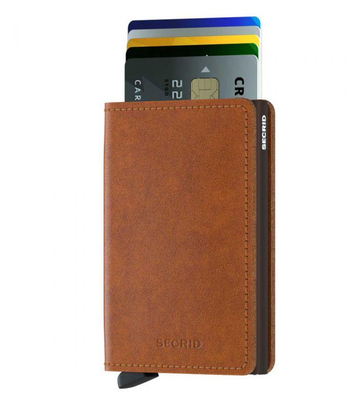 SECRID - Secrid slim wallet leer original cognac bruin