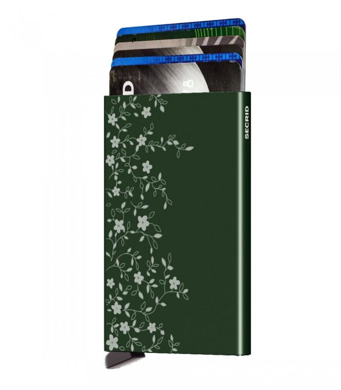Secrid card protector aluminium provence green