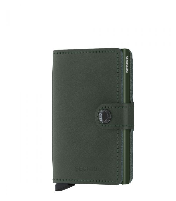 Secrid mini wallet leer original groen