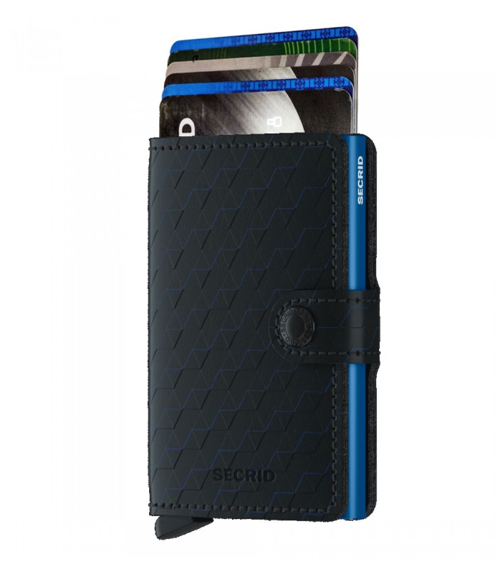 Secrid mini wallet leer optical zwart