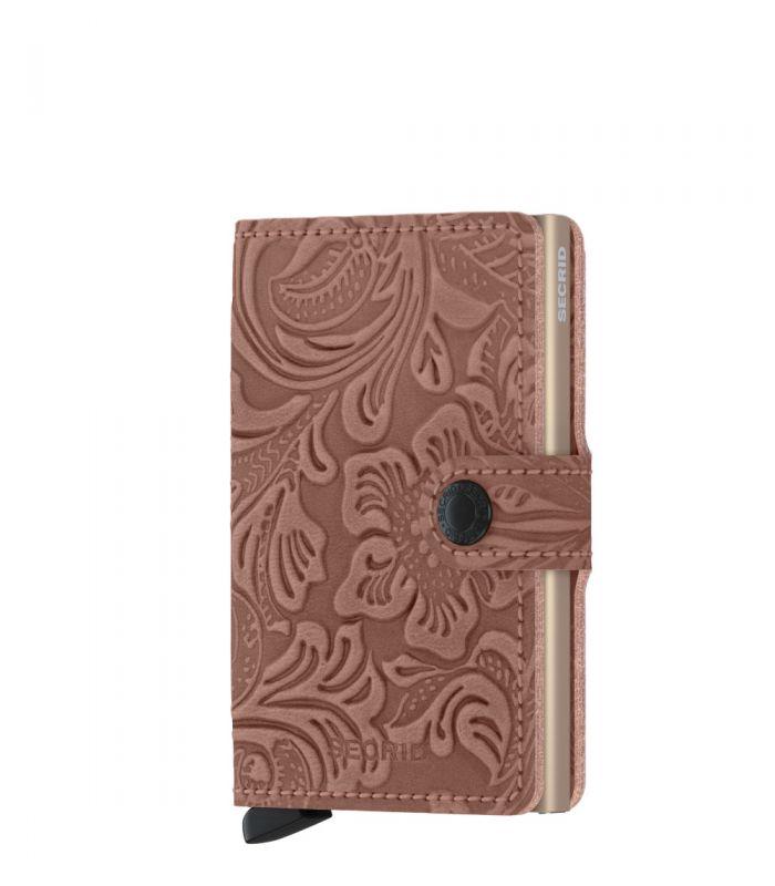 Secrid mini wallet leer ornament rose