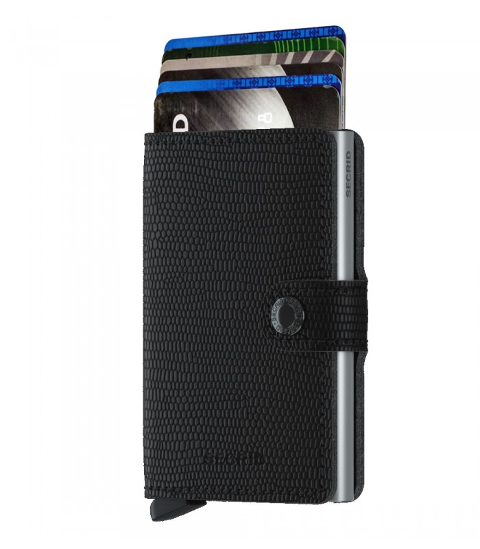 Secrid mini wallet leer Rango zwart