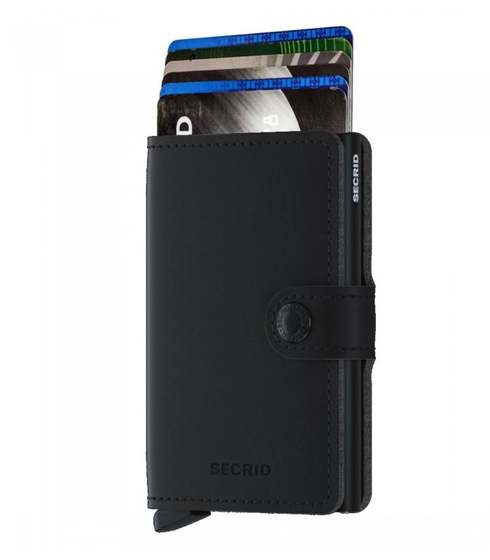 Secrid mini wallet Vegan soft touch zwart