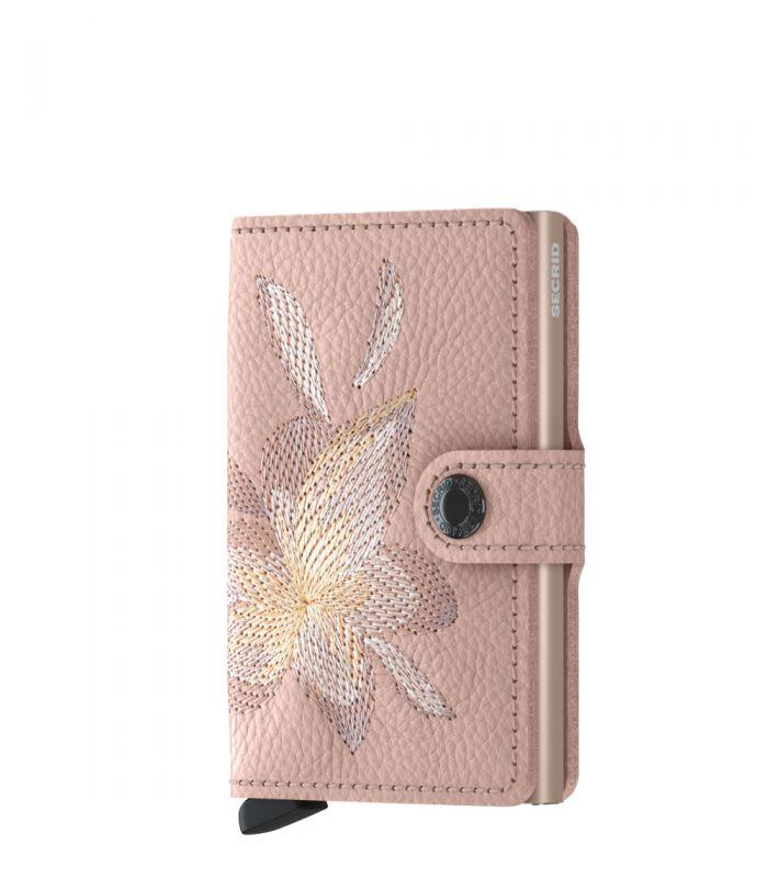 Secrid mini wallet leer stitch magnolia rose