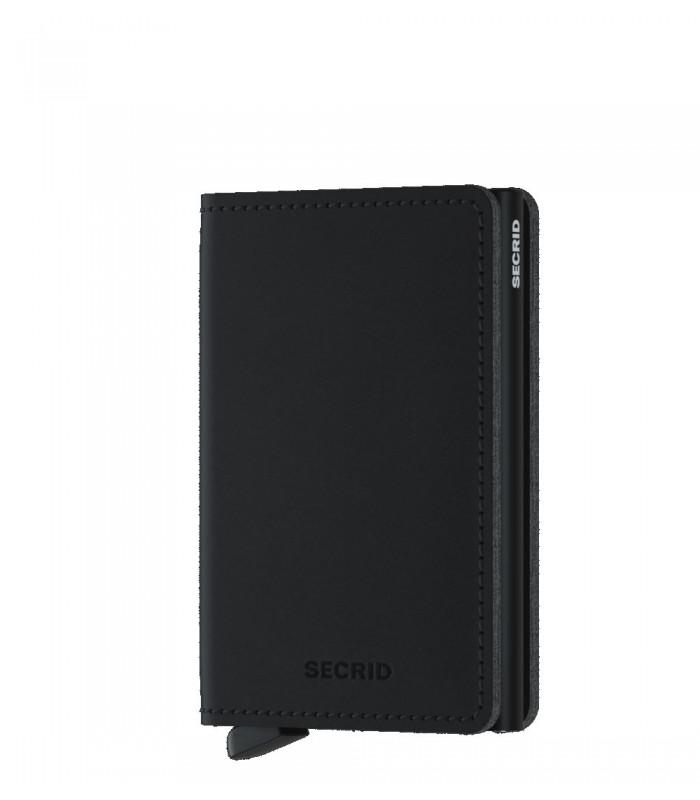 Secrid slim wallet Vegan Soft touch zwart