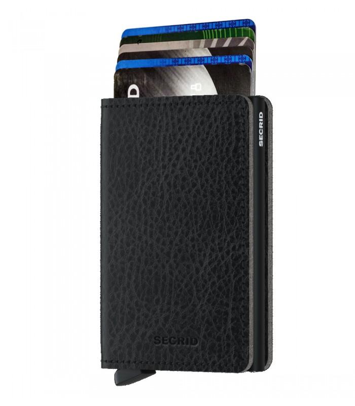 Secrid slim wallet leer veg zwart
