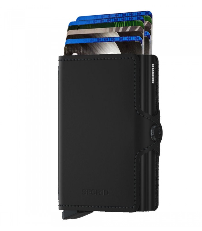 Secrid twin wallet leer mat zwart
