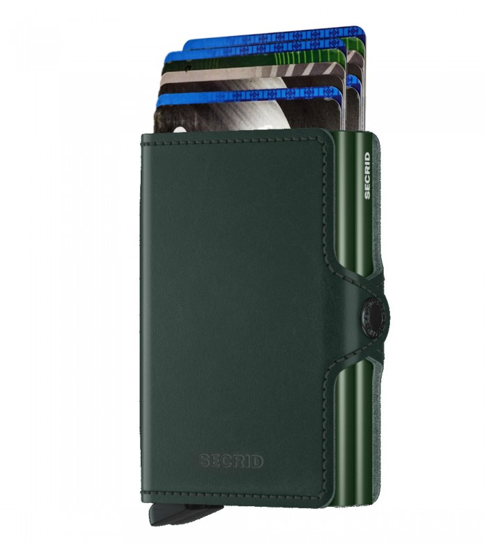 Secrid twin wallet leer original groen