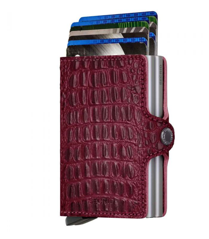 SECRID - Secrid twin wallet leer Nile rood
