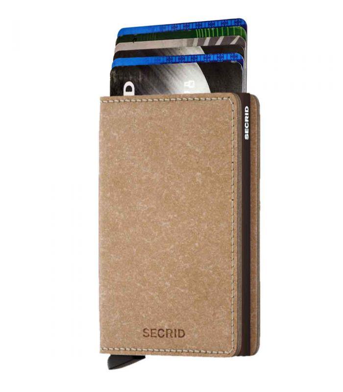 SECRID - Secrid slim wallet leer recycled natural