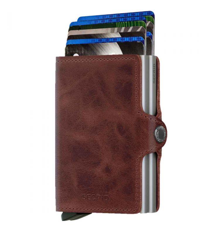 SECRID - Secrid twin wallet leer vintage bruin
